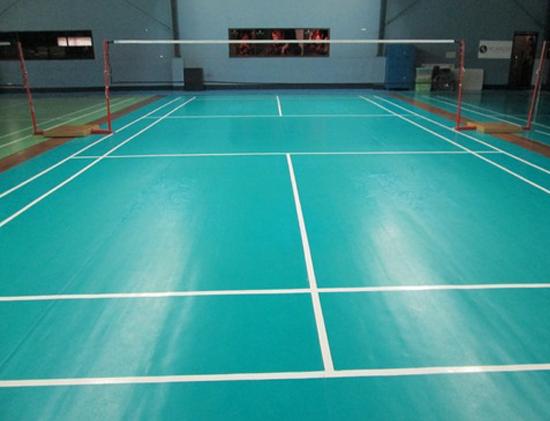 Sports coating badminton court