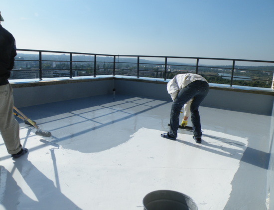 Roof waterproofing and epoxy self leveling